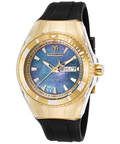 【ネット限定】 Black : ( Color &apos Quartzステンレススチールand : Silicone &apos Cruise Model &aposs Women , Casual tm-1153 TechnoMarine Watch-腕時計レディース