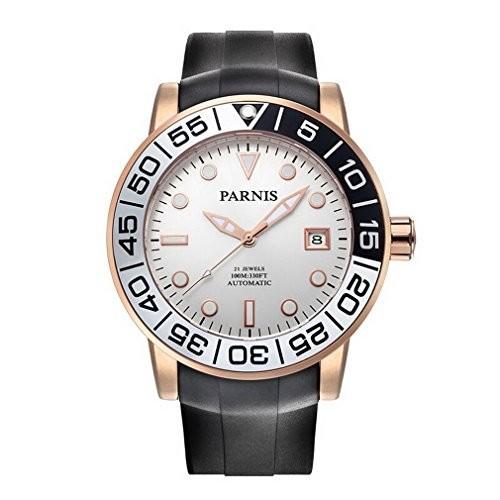 最高級 Parnis Mechanical Sailer Sailer Seriersメンズシリコンバンドスポーツファッション自動auto-wind Mechanical Watch腕時計???ローズゴール?, 大橋家具店:aa2aab91 --- 1gc.de