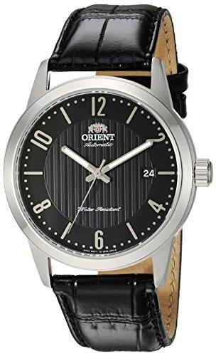 入園入学祝い Orient Men s Howard Japanese AutomaticステンレススチールandレザーDress Watch , Color : Black ( Model : fac05006b0?), ケンコーコム e99e8d7e