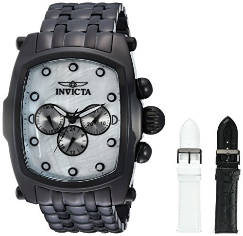 新しく着き Invicta Quartz Mens Lupah Quartz Stainless Steel Casual Watch%カンマ% Color:Black Steel Casual (Model: 23430), 雑貨問屋直営 junna:e98c9742 --- 1gc.de