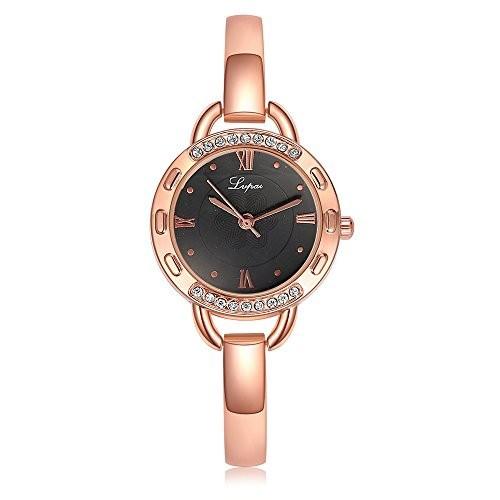 正規店仕入れの lvPAiローズゴールド腕時計レディースローマ数字花ダイヤルアナログクォーツ防水p118???1, ジーンズ&カジュアル ロック a0adf95c