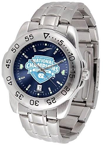【在庫処分大特価!!】 North CarolinaNorth Carolina 2017年NCAAのバスケットボールChampions???メンズスポーツスチールAnochrome腕時計, 魅力的な価格:9ace2231 --- 1gc.de