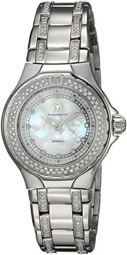 人気新品 Technomarine Womens Sea Quartz Stainless Steel Casual Watch, Color:White (Model: TM-716005), ミンマヤムラ e5c92633