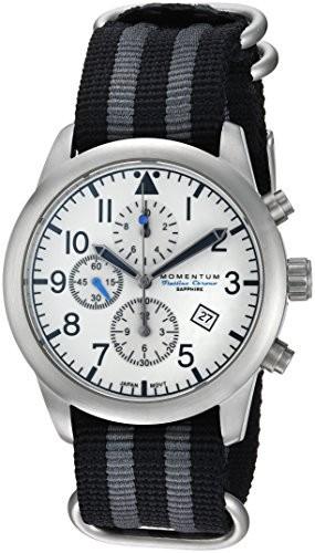 【レビューで送料無料】 Momentum Casual Mens Chronograph Collection Collection Quartz Nylon Stainless Steel and Nylon Casual Watch, Color:Silver-Toned (Model: 1M-SN34LS7S), 富士見村:c3cc2d71 --- 1gc.de