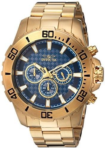 宅配便配送 Invicta Quartz Mens Pro Diver Quartz Invicta (Model: Stainless Steel Casual Watch%カンマ% Color:Gold-Toned (Model: 22544), 五泉市:803c5a5d --- 1gc.de