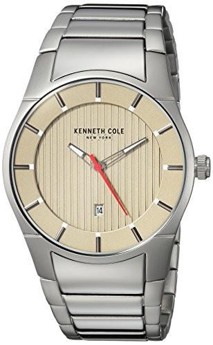 【絶品】 Kenneth New Men : s , Cole silver-toned kc15103011?) Color Watch York (モデル: QuartzステンレススチールCasual-腕時計メンズ