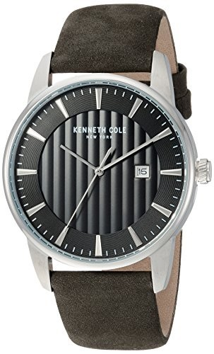 祝開店!大放出セール開催中 Kenneth Cole New York New Mens (Model: Quartz Stainless Steel Leather and Leather Casual Watch, Color:Black (Model: KC15204002), ゴールデンベアストア:58db9bd0 --- ai-dueren.de