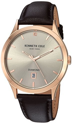 人気新品入荷 kc15174001?) Model , New Color Brown Watch York Cole &aposs Kenneth : QuartzステンレススチールandレザーCasual ( : Men-腕時計メンズ