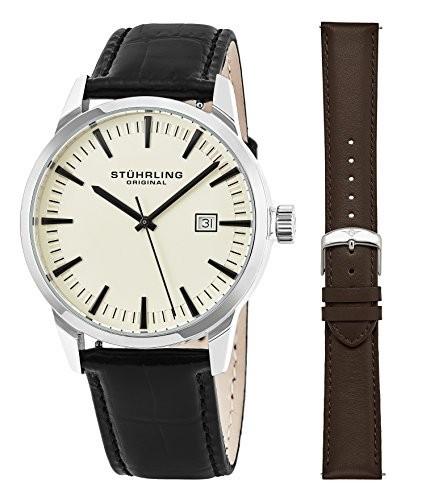 おすすめネット Stuhrling OriginalミニマリストドレスWrist Watch for Men for、ステンレススチール腕時計 Stuhrling Watch アイボリー, 松川町:b96bd268 --- 1gc.de