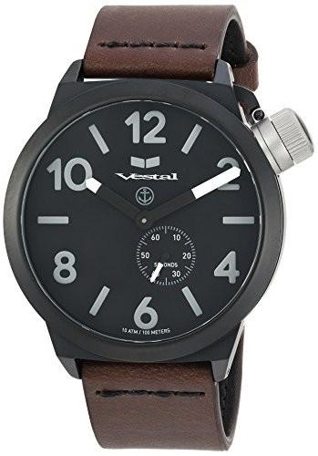 色々な Vestal Quartz Stainless Steel and Leather Dress Watch, Color:Brown (Model: CNT453L06.DBBK), 上之保村 82db61d2