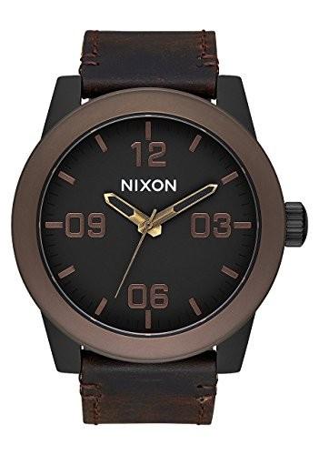 【使い勝手の良い】 ニクソンa243???2786?Corporalメンズ腕時計ブラウン48?mmステンレススチール-腕時計メンズ