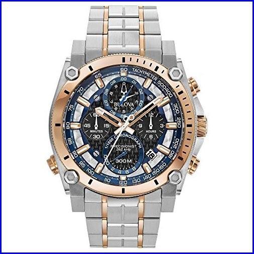 【在庫処分大特価!!】 98b317?Precisionistメンズ腕時計シルバー/ローズゴールドステンレススチール Bulova-腕時計メンズ