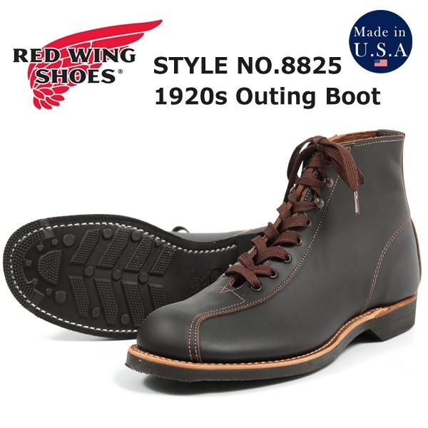 配送員設置 ブラック「プレーリー」 No.8825 Boots アウティング Style 1920s ブーツ Outing レッドウィング REDWING-靴・シューズ