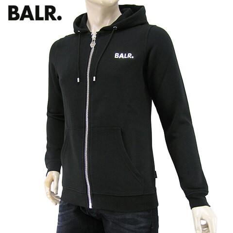 高級ブランド ジップアップパーカー Qシリーズ ボーラー/BALR. Q-series 【2019-20秋冬新作】 Classic メンズ Hoodie Zipped 10158 ク ブラック/BLACK-トップス