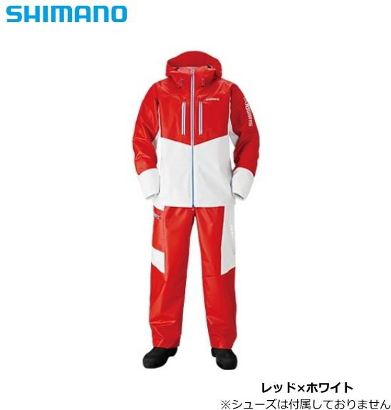 ふるさと納税 シマノ マリンライトスーツ RA-034N レッド×ホワイト XL(LL)サイズ / レインウエア 【送料無料】, アイトウチョウ 33e4b429