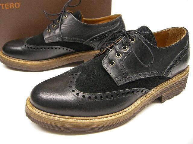 【値下げ】 BUTTERO(ブッテロ)/レザーウイングチップシューズB5623UTHGB/オックスフォードシューズ/ビジネスシューズ/カジュアルシューズ/メダリオン-靴・シューズ