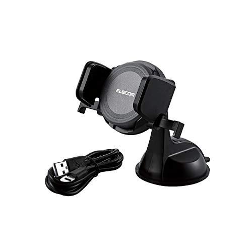 エレコム カーチャージャー 車載充電器 Qi充電 【 iPhone/Android 対応 】 ブラック W-QC01BK