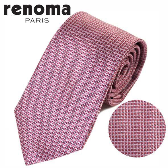 レノマ renoma ネクタイ レギュラータイ シルク 格子 50 2L 47556 7//50-2L-47556-7-HC【新品】