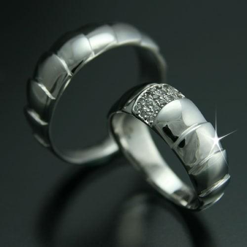 【即発送可能】 ダイヤモンド 結婚指輪 母の日 マリッジリング ギフト 金属アレルギー 日本製 品質保証書 2本セット プラチナ900-指輪・リング