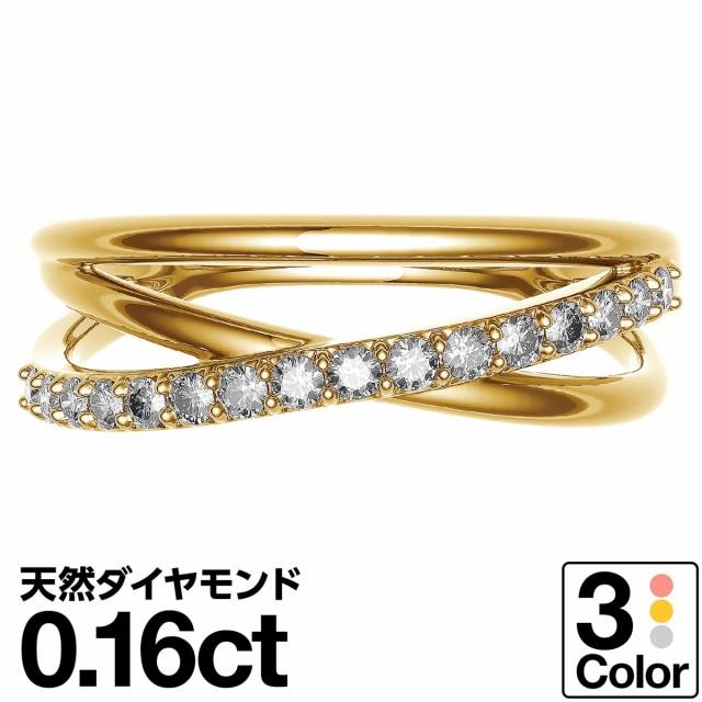 再再販! ファッションリング k18 イエローゴールド/ホワイトゴールド/ピンクゴールド 金属アレルギー ダイヤモンド 母 日本製 品質保証書 リング-指輪・リング