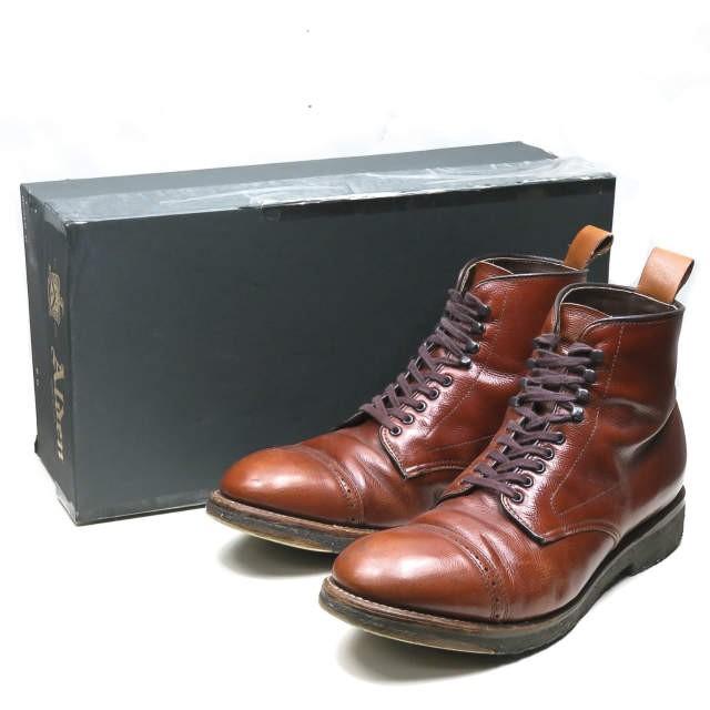 本物品質の キャップトゥブーツ ALDEN オールデン アルパインカーフ 86910H ブラウン アメリカ製 US8D(26cm)-靴・シューズ