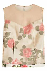【半額】 Maison with レディースシャツ Silk Margiela Printed Shell-トップス