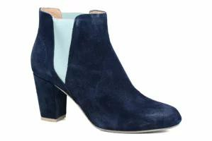 高速配送 bear Blue レディースシューズ Navy boots bear Hannah 171 Suede Shoe the Ankle the Shoe-靴・シューズ