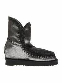 当店だけの限定モデル Mou レディースシューズ Mou Eskimo Silver Leather & Wool Boots Silver, やまとショップ 5ee8491f