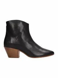 【送料込】 Isabel Marant レディースシューズ Isabel Marant Dacken Black Calf Leather Ankle Boots?, 【限定特価】 cdeb6bf9