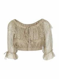 生まれのブランドで Moschino レディースその他 Moschino Lace Detail Cropped Top, 安価 2e265c67