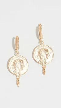 【日本産】 Maison Irem Earrings レディースアクセサリー Maison Irem Coin Irem Irem Drop Earrings Gold, SPORTS INFINITY:fcc944ac --- 1gc.de