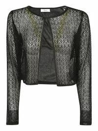 ファッション Blugirl レディーストップス Blugirl Laced Knit Cardigan Nero, INCENSE 63a407e9