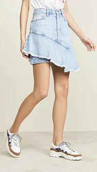 ビッグ割引 ei8htdreams レディーススカート ei8htdreams ei8htdreams Asymmetrical Ruffle Denim ei8htdreams Skirt Skirt Light Wash, 鉾田町:267e5316 --- 1gc.de