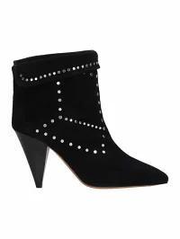 【初売り】 Isabel Marant レディースシューズ Isabel Marant Black Suede Lisbo Boots black, 輪島市 136dd0cc