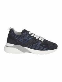 100%品質 Denim Hogan One Scuro/ar F レディーススニーカー Blu Sneakers Active Hogan-靴・シューズ