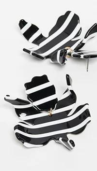 2019超人気 Lele Sadoughi Lele レディースアクセサリー Black Lele Sadoughi Paperlily Earrings Black and Sadoughi White, D7 パーツ ビーズ 手芸素材:25820326 --- 1gc.de