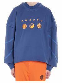 安いそれに目立つ AMBUSH レディースその他 AMBUSH patchwork Sweatshirt Blue, ホームショッピング 4c3dcedf