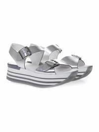 新品同様 Hogan レディーススニーカー Hogan Sandals Maxi In H222 Sandals In Hogan Silver Leather Silver, ブランド雑貨屋ウィンパル:d468395d --- zafh-spantec.de