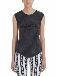 【送料0円】 Balmain レディースその他 Balmain Balmain Logo Balmain Logo Printed Topwear Gray, E-BOS:cfd0e6bf --- kzdic.de