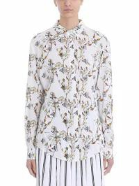 華麗 Off-White Floral レディースブラウス Print Off-White Crepe Basic Floral Print Shirt Shirt White, すまいるまこ:09cc23c3 --- kzdic.de