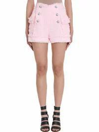 独特な Pink レディースパンツ rose-pink Balmain Balmain Shorts Boucl?-tweed-パンツ