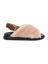 正規品 Marni Marni レディースサンダル Shoes fussbet Beige-靴・シューズ
