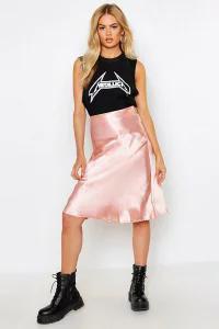 Boohoo レディーススカート Boohoo Satin Bias Cut Slip Midi Skirt mauve