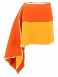 【メール便送料無料対応可】 Calvin Klein レディーススカート Calvin Klein Pendleton Skirt ARANCIO (Orange), 竹田本社 お菓子の城 d9d43ab8