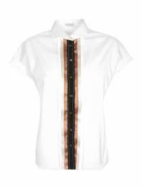 【美品】 Brunello Brunello Cucinelli レディースシャツ Brunello Cucinelli Brunello Placket Pleated Placket Shirt, Sorayu:2407e089 --- kzdic.de