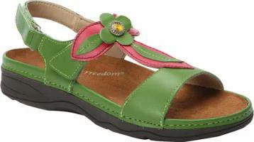 人気激安 Drew レディースサンダル Alana Drew Green/Pink-靴・シューズ