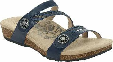 流行に  Aetrex レディースサンダル Aetrex Janey Slide Slide Sandal Aetrex Navy Aetrex Leather, ヨナバルチョウ:063842d1 --- salsathekas.de