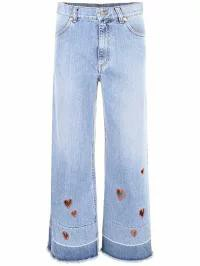 【年中無休】 Vivetta レディースパンツ LIGHT BLUE|Celeste Dafni Frayed Jeans, アイコウグン f94308b0
