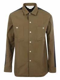 国内初の直営店 Shirt Goose Buttoned Golden Goose Golden MUD/NAVY メンズシャツ-トップス