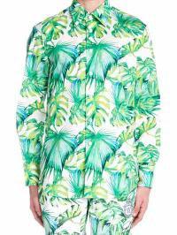 超歓迎された Shirt Billionaire foglie Multicolor メンズシャツ Billionaire Banano-トップス